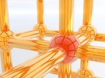 molécula 3D Foto de Stock Royalty Free
