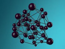 Molécula abstracta del fondo Foto de archivo libre de regalías