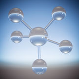Molécula abstrata - ilustração 3D Fotos de Stock