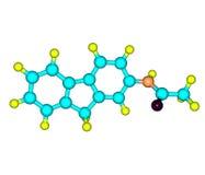 molécula 2-Acetylaminofluorene aislada en blanco ilustración del vector