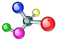 Molécula brillante con el electrón Fotografía de archivo libre de regalías