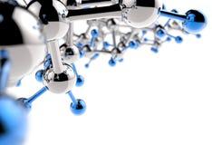 Molécula 3d mediacal Imagen de archivo libre de regalías