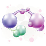 Molécula da cor Fotografia de Stock Royalty Free