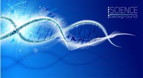 Molécula da estrutura do ADN, ilustração hemical do vetor da ciência médica Fotos de Stock Royalty Free