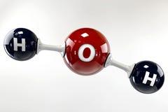 Molécula da ilustração da água em um fundo cinzento Imagem de Stock Royalty Free
