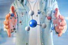 molécula da rendição 3d no indicado em uma relação médica Imagens de Stock Royalty Free