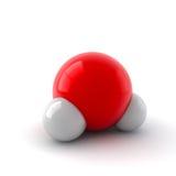 Molécula de agua Imagen de archivo libre de regalías
