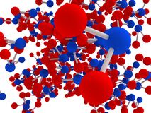 Molécula de agua imaginaria Foto de archivo