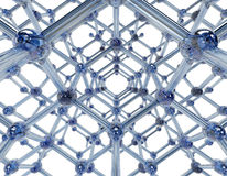 Molécula de cristal Fotos de archivo libres de regalías