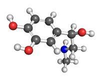 Molécula de la adrenalina Fotos de archivo