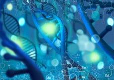 Molécula de la DNA stock de ilustración