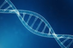Molécula de la DNA de Digitaces, estructura Genoma humano del código binario del concepto Molécula de la DNA con los genes modifi fotografía de archivo libre de regalías