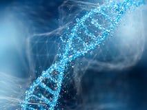 Molécula de la DNA en fondo abstracto azul Concepto de bioquímica ilustración del vector