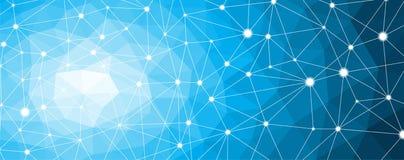 Molécula de la estructura y nodo de la comunicación, neuronas Fondo de la ciencia abstracta stock de ilustración
