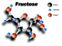 Molécula de la fructosa Fotografía de archivo libre de regalías