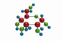 Molécula de la glucosa Foto de archivo libre de regalías
