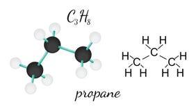 Molécula de la hexametilentetramina C3H8 Imagenes de archivo