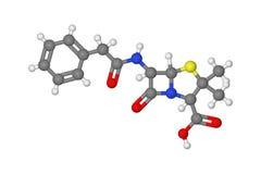 Molécula de la penicilina Fotografía de archivo libre de regalías