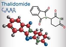 Molécula de la talidomida Se utiliza como tratamiento del mieloma múltiple ilustración del vector