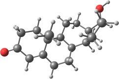 Molécula de la testosterona Imagenes de archivo
