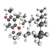 Molécula de la vitamina E stock de ilustración