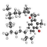 Molécula de la vitamina K1 Fotografía de archivo libre de regalías