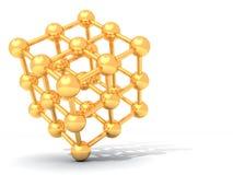 Molécula de oro Fotografía de archivo libre de regalías