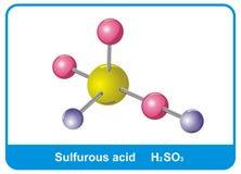 Molécula del ácido de azufre Imagen de archivo libre de regalías