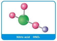 Molécula del ácido nítrico Imagen de archivo libre de regalías