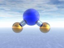 Molécula del agua Foto de archivo libre de regalías