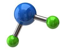 Molécula del agua Imagen de archivo libre de regalías