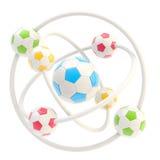 Molécula del balompié hecha de bolas libre illustration