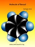 Molécula del benceno Imágenes de archivo libres de regalías