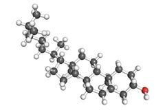 Molécula del colesterol ilustración del vector