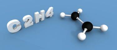 Molécula del etileno Imagen de archivo libre de regalías