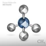 Molécula 01 A del metano Fotos de archivo libres de regalías
