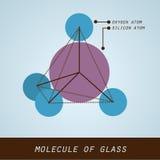 Molécula del vidrio en diseño plano moderno Imágenes de archivo libres de regalías