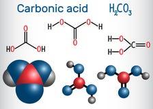 Molécula do ácido carbônico H2CO3 É igualmente solução de carbono ilustração do vetor