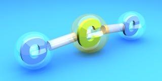 Molécula do CO2 ilustração do vetor