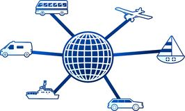 Molécula do transporte ilustração stock