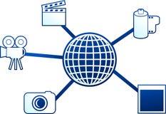 Molécula dos media ilustração do vetor