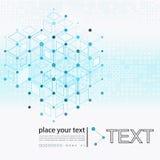 Molécula e fundo de uma comunicação Fotografia de Stock