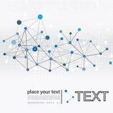 Molécula e fundo de uma comunicação Foto de Stock