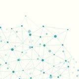 Molécula e fundo de uma comunicação Imagens de Stock