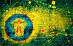 Molécula e fundo de uma comunicação ilustração royalty free