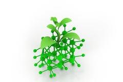 Molécula e sprout ilustração stock