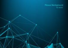 Molécula gráfica geométrica y comunicación del fondo Complejo grande de los datos con los compuestos Contexto de la perspectiva A libre illustration