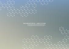 Molécula hexagonal Estructura molecular compuestos genéticos y químicos Química, medicina, ciencia y tecnología libre illustration