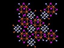 Molécula inorgánica tridimensional ilustração do vetor