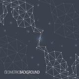Molécula negra geométrica y comunicación del fondo para su diseño y su texto Foto de archivo libre de regalías